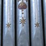 Motivo a stelle dipinte su canne di facciata - Chiesa del Purgatorio - Matera