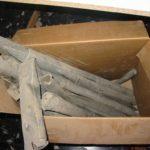 Canne metalliche non ordinate prima del restauro