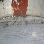 Iscrizione su anima di canna di facciata