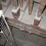 Somiere e meccanica basseria prima del restauro