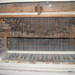 Tastiera e catenacciatura prima del restauro
