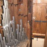 Le canne interne dopo la pulitura, rimessa in forma e restauro.