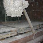 I tre mantici a cuneo originali prima del restauro.
