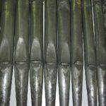 Grave stato di ossidazione delle canne di facciata in stagno, dovuta alla presenza di impurità ferrose nella lega metallica.