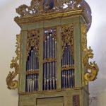 Vista complessiva dello strumento, dopo il restauro.