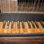 Tastiera, dopo il restauro.