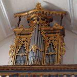 Lo strumento ricollocato, dopo il restauro.