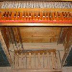 Tastiera e pedaliera dopo il restauro.