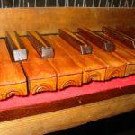 Particolare tastiera dopo il restauro.