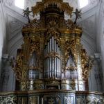 Lo strumento visto da terra, dopo il restauro.