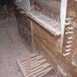 Consolle dello strumento prima del restauro