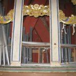 Interno dello strumento prima del restauro