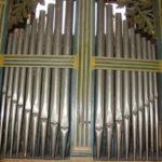 La facciata dello strumento prima del restauro
