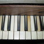 Particolare tastiera dopo il restauro