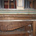 Somiere maestro e catenacciatura prima del restauro