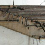 Catenacciatura dei tasti prima del restauro