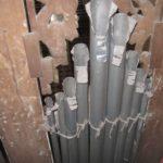 Particolare squarci di accordatura facciata prima del restauro