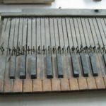 Tastiera prima del restauro