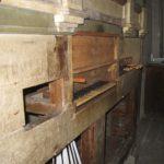 Consolle dello strumento dopo il restauro
