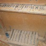 Tastiera e pedaliera prima del restauro