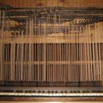 Tastiera, tiranteria in faggio e catenacciatura dopo il restauro