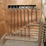 Meccanica dei registri prima del restauro