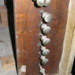 Pomelli dei registri prima del restauro