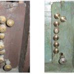 Pomelli dei registri prima e dopo il restauro