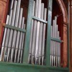 Prospetto, tastiera e registri dopo il restauro