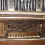 Tastiera e catenacciatura dopo il restauro